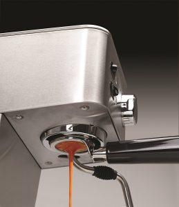 up close shot of capresso ec pro machine