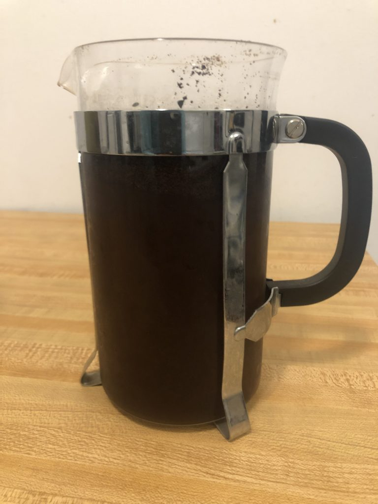 trader joe's medium roast color in french press for cold brew
