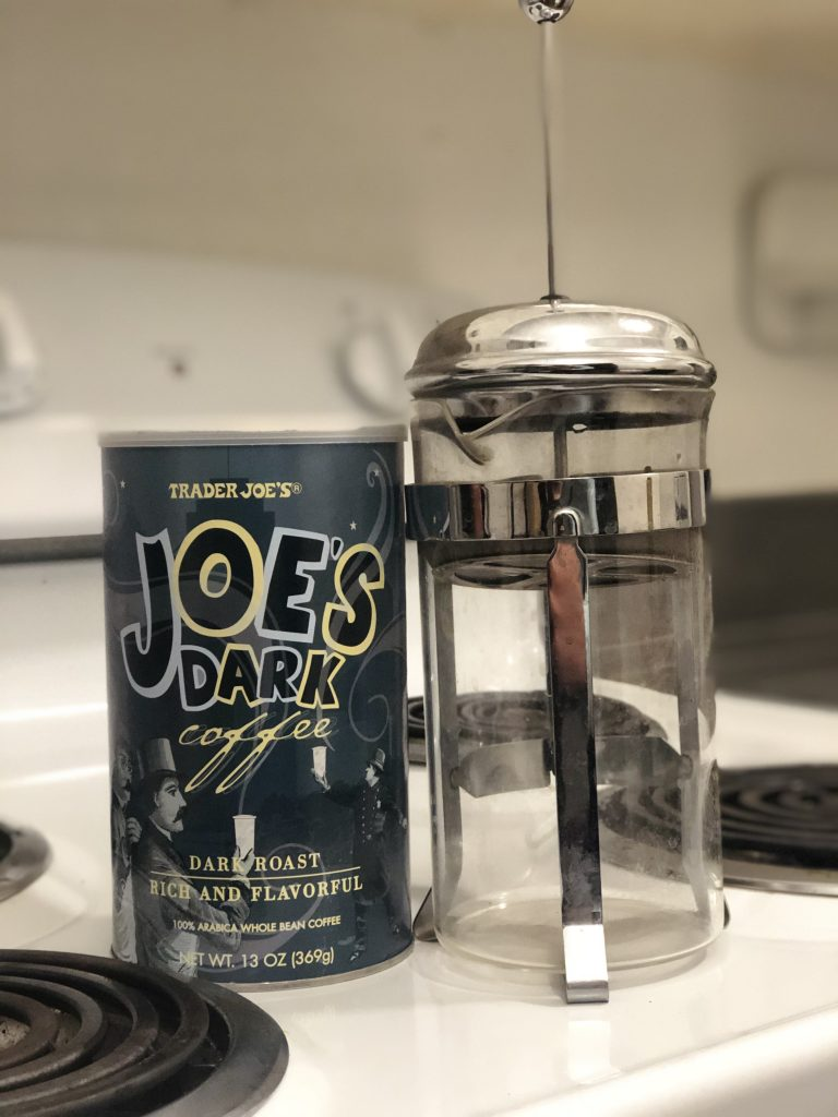 trader joe's dark roast with french press for cold brew
