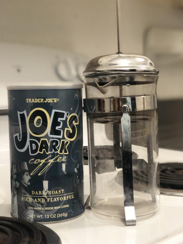 trader joe's dark roast in french press
