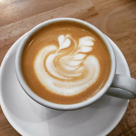 cappuccino with swan