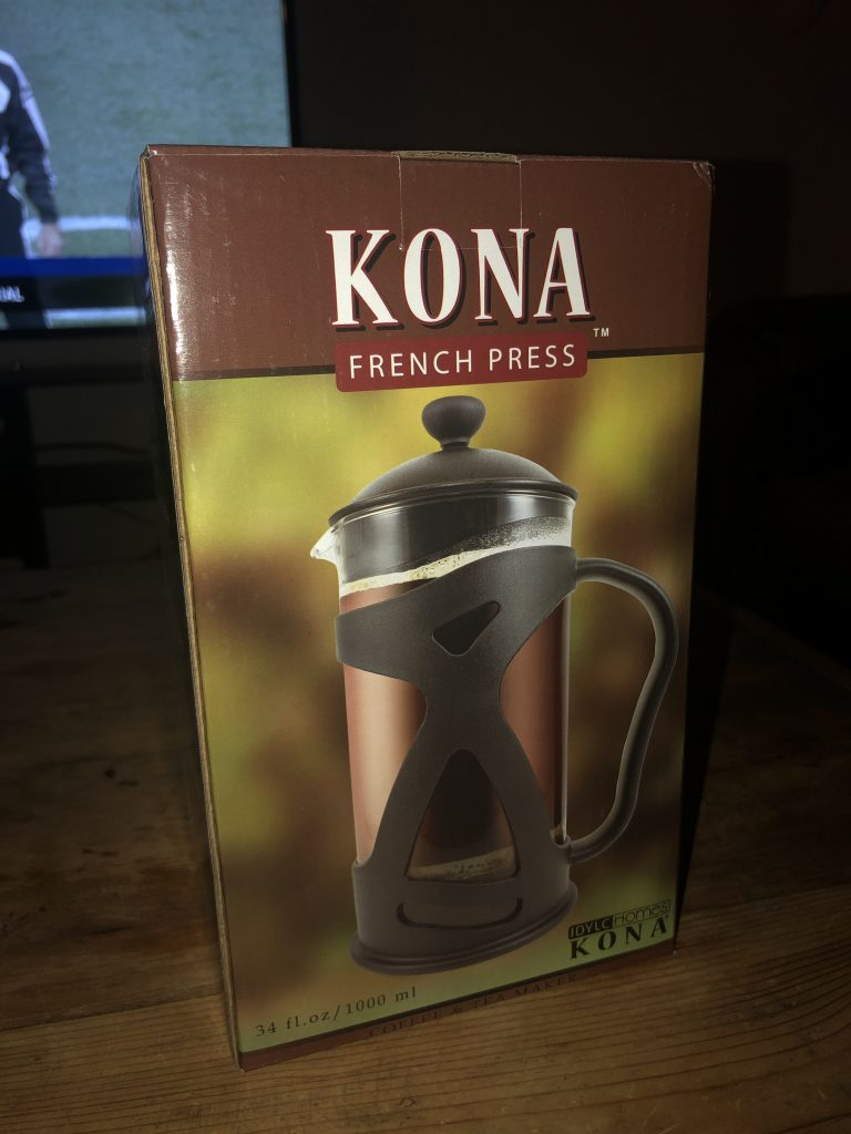 kona french press box