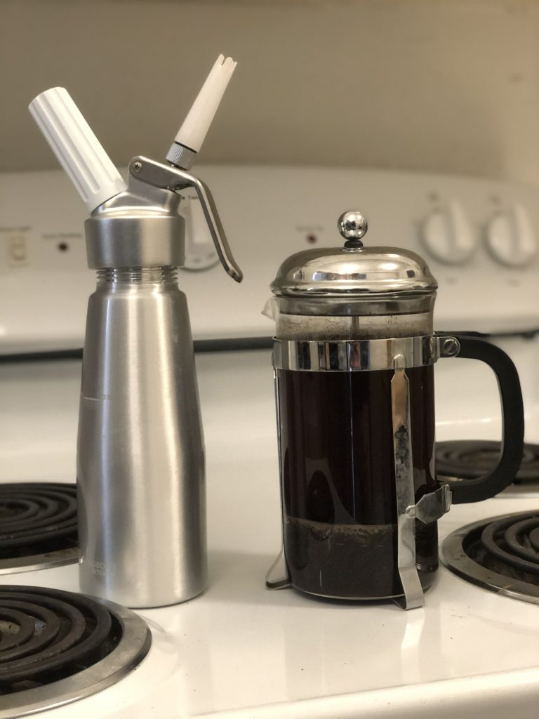 nitro cold brew maker with french press. Easiest way to make nitro cold brew at home