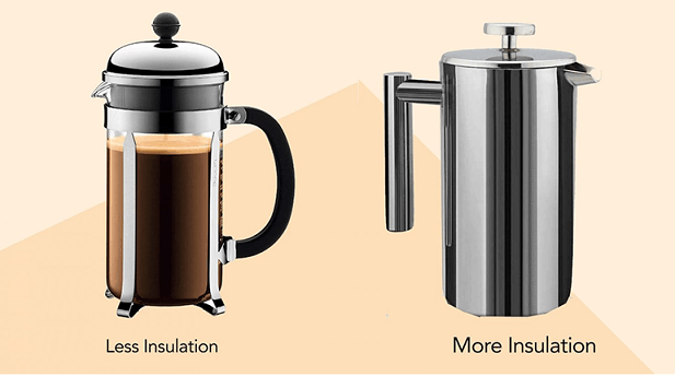 glass vs steel french press