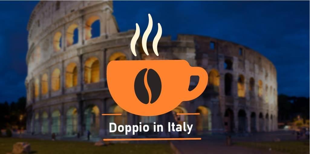 Doppio coffee in Italy