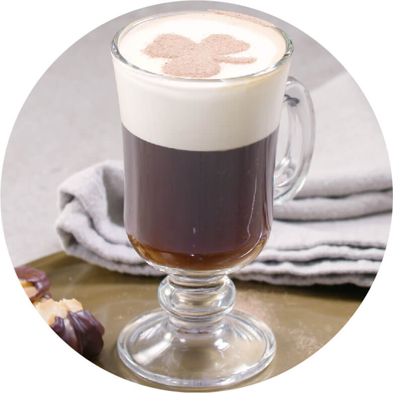 Irish coffee circled