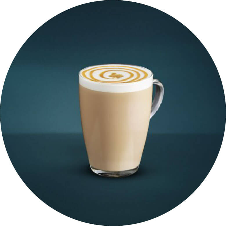 Macchiato coffee circled