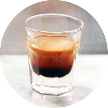 Ristretto coffee circled