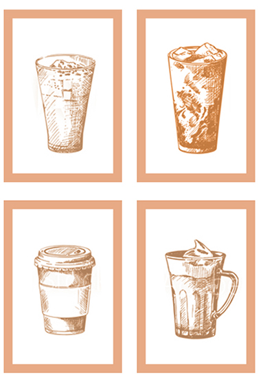 coffee shop drinks