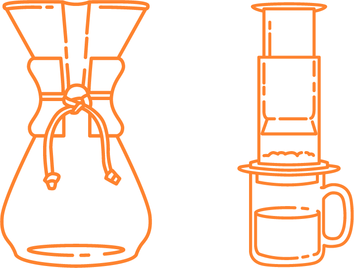 Immersion coffee vs Drip coffee 1