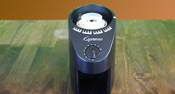 front of grinder