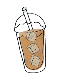 cup with iced coffee