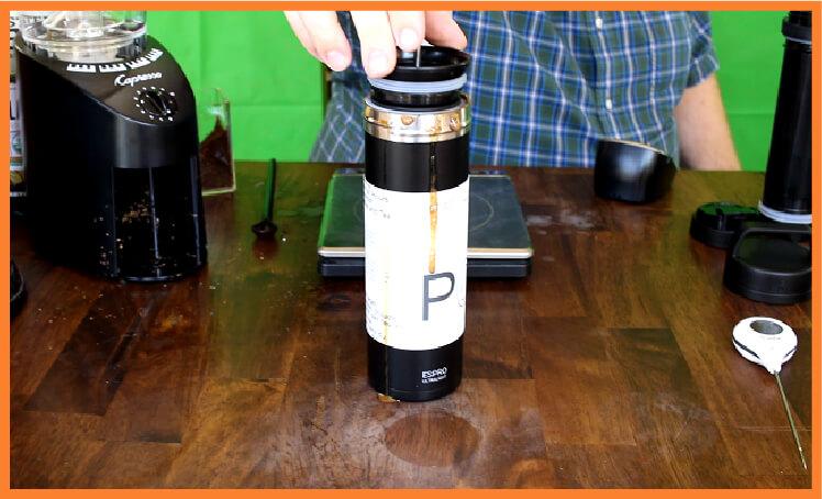 Espro P0 brewing
