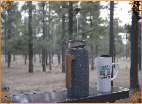 press a metal filter through the coffee 2