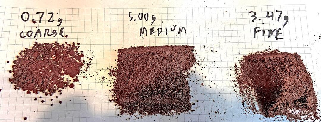 sample of blade grind