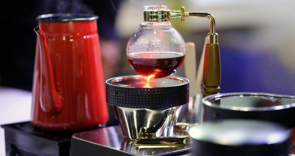 siphon coffee making process