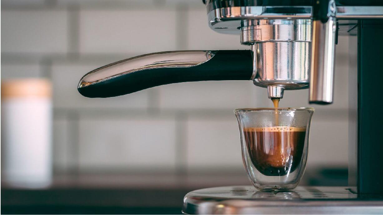 coffee cup in Espresso machine