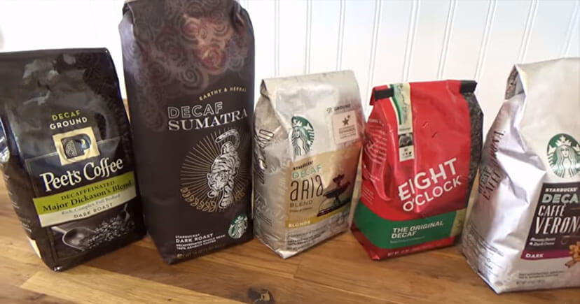 Decaffeinated Brands on table