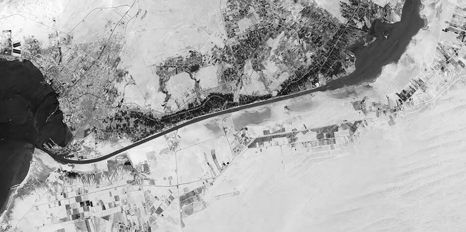 Suez Canal aerial view