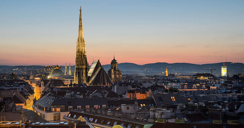 Vienna City at Evening