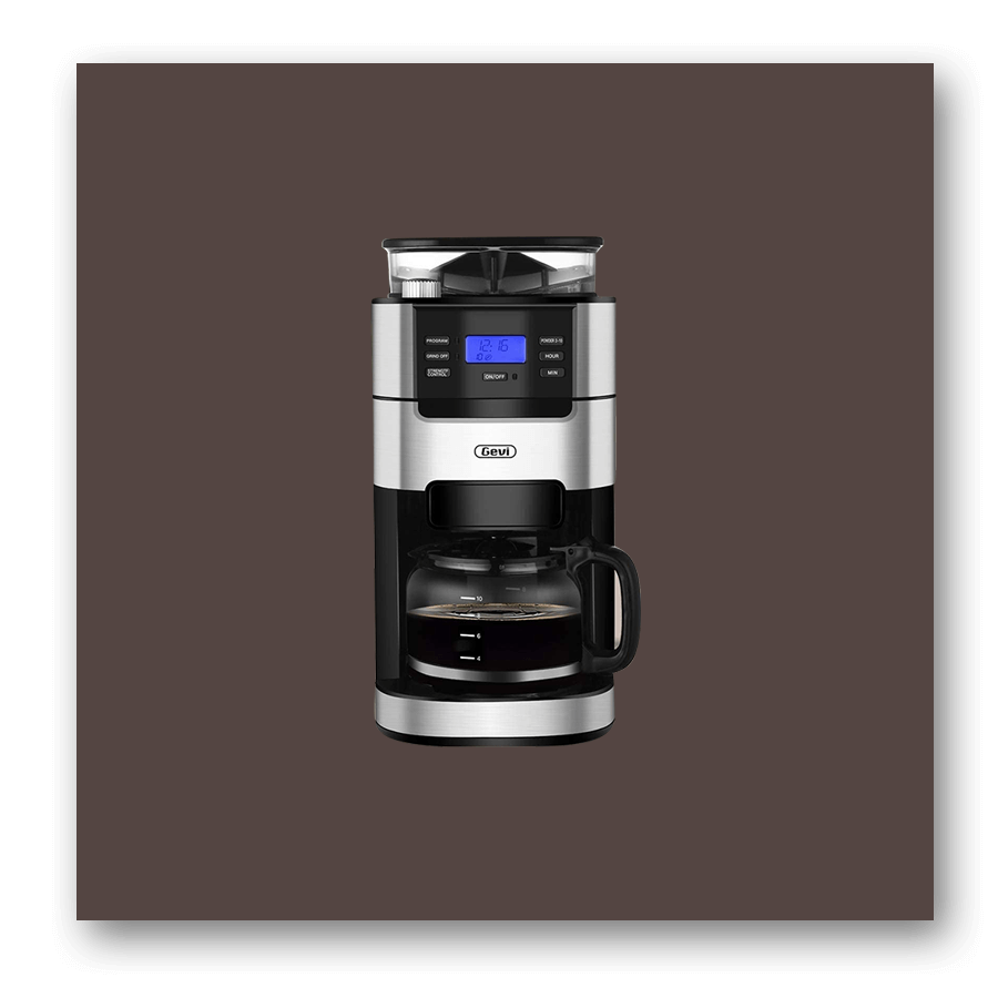 Gevi 10-Cup Automatic Coffee Maker W Built-in Coffee Bean Grinder product image