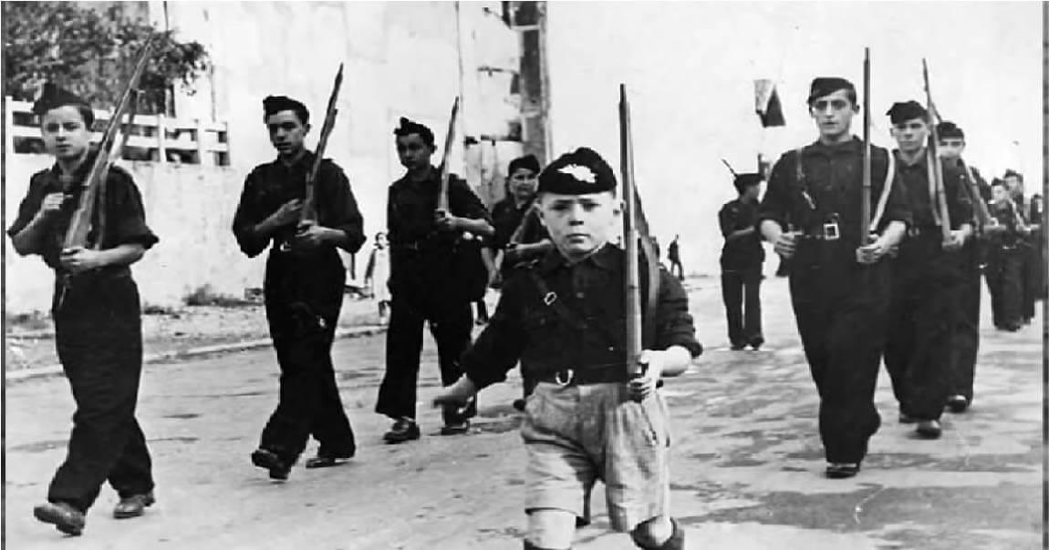 kids in Spanish Civil War 1936-1939